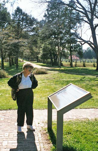 Mom in 2002 at Wakefield Plantation
