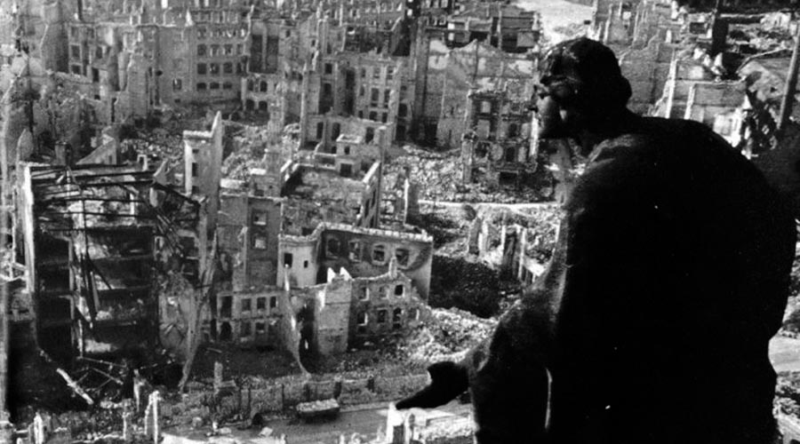 Dresden Fire-Bombing Aftermath, 1945